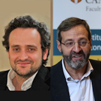 Professor Vasco Carvalho and Professor Giancarlo Corsetti